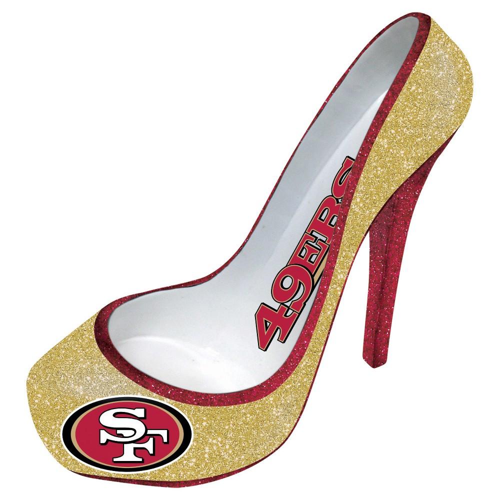 NFL San Francisco 49ers Team Sports America Platform Shoe Wine Bottle Holder