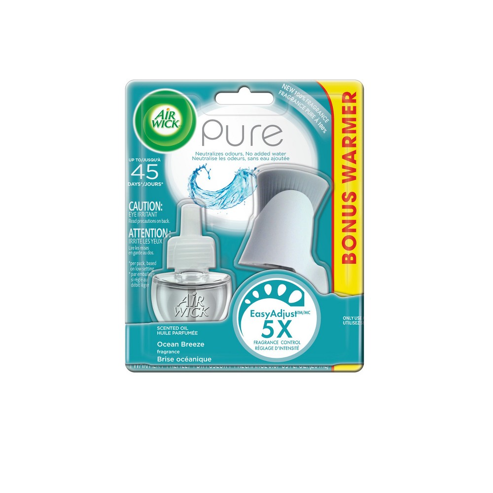 Image of Air Wick Scented Oil Pure Ocean Breeze Air Freshener - 0.67oz, Multi-Colored