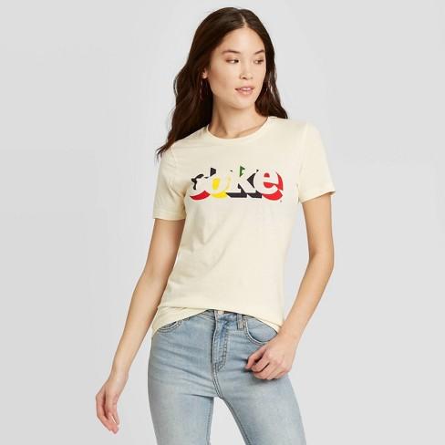 Women's Coca-Cola Short Sleeve Graphic T-Shirt (Juniors') - Beige - image 1 of 2