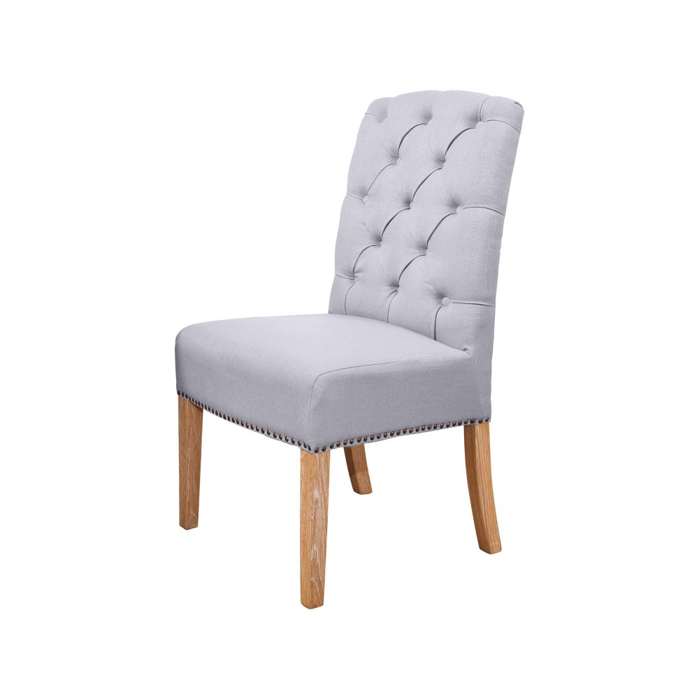 Magnificent Misty Linen Parsons Dining Chair Light Blue Abbyson Ncnpc Chair Design For Home Ncnpcorg