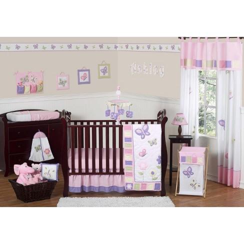 Sweet Jojo Designs Crib Bedding Set Pink Lavender Erfly 11pc Target