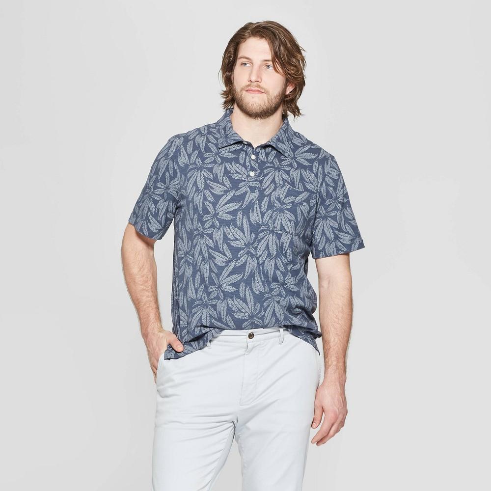 Men's Big & Tall Regular Fit Short Sleeve Jersey Polo Shirt - Goodfellow & Co Subdued Blue 4XB
