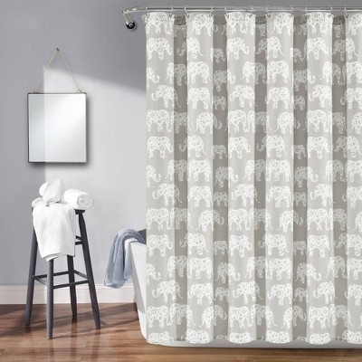"72""x72"" Elephant Parade Shower Curtain - Lush Décor"