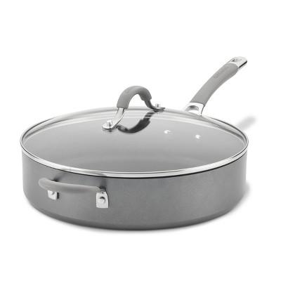 Circulon Elementum 5qt Hard Anodized Aluminum Nonstick Saute Pan with Lid Gray