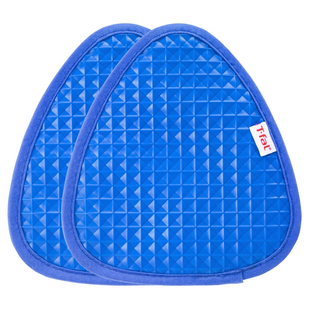 "Image of ""2pk Blue Waffle Silicone Pot Holder (7.5""""x8.25"""") - T-Fal"""