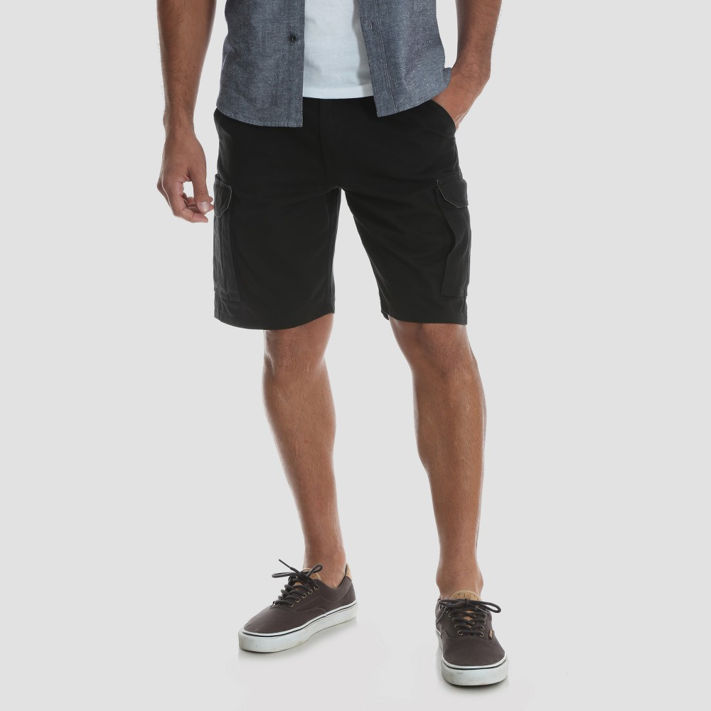 Wrangler Men's Big & Tall 10 Twill Cargo Shorts - Black 46
