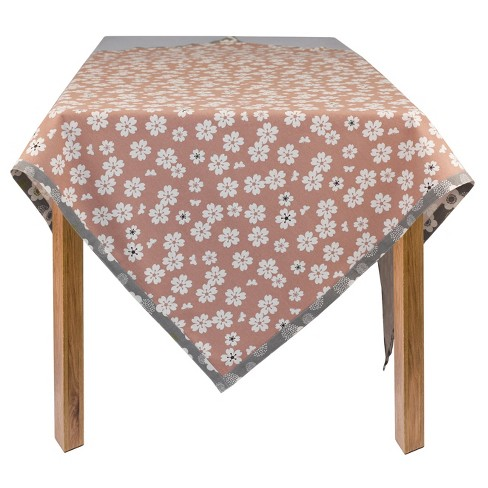 "Floral Organic Cotton Flowers Rectangle Tablecloth (60""x84"") - ASD Living - image 1 of 1"