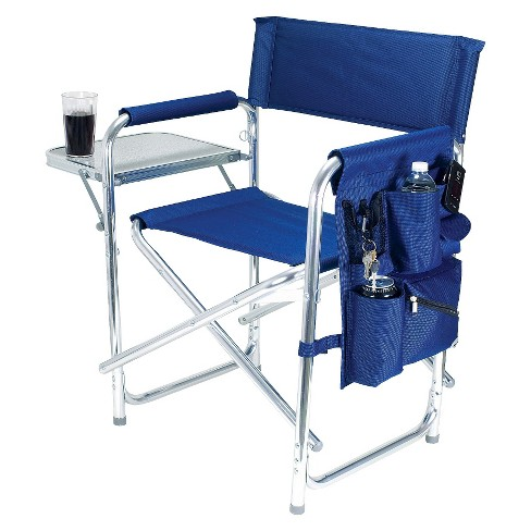 Picnic Time Sports Chair With Table and Pockets - Navy - image 1 of 3