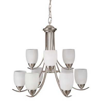Yosemite 9-Light Chandelier - Brush Nickel
