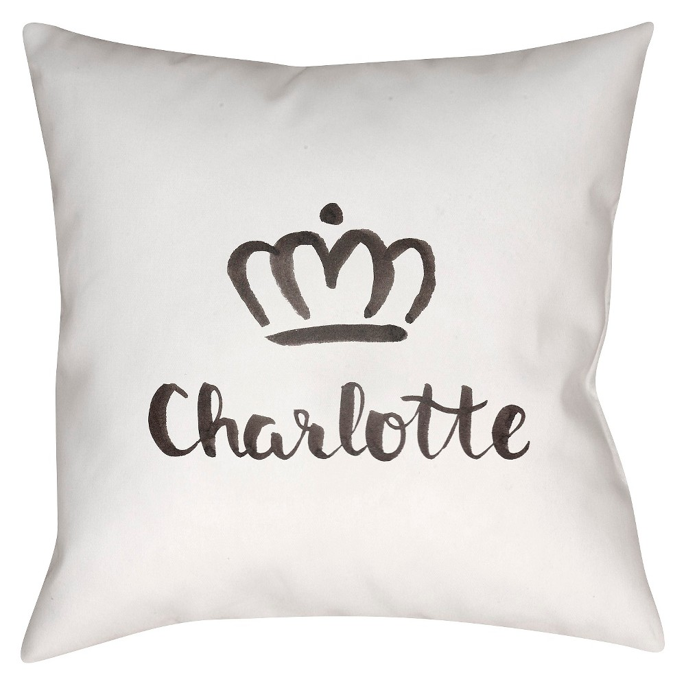 White Souvenir Charlotte Throw Pillow 18