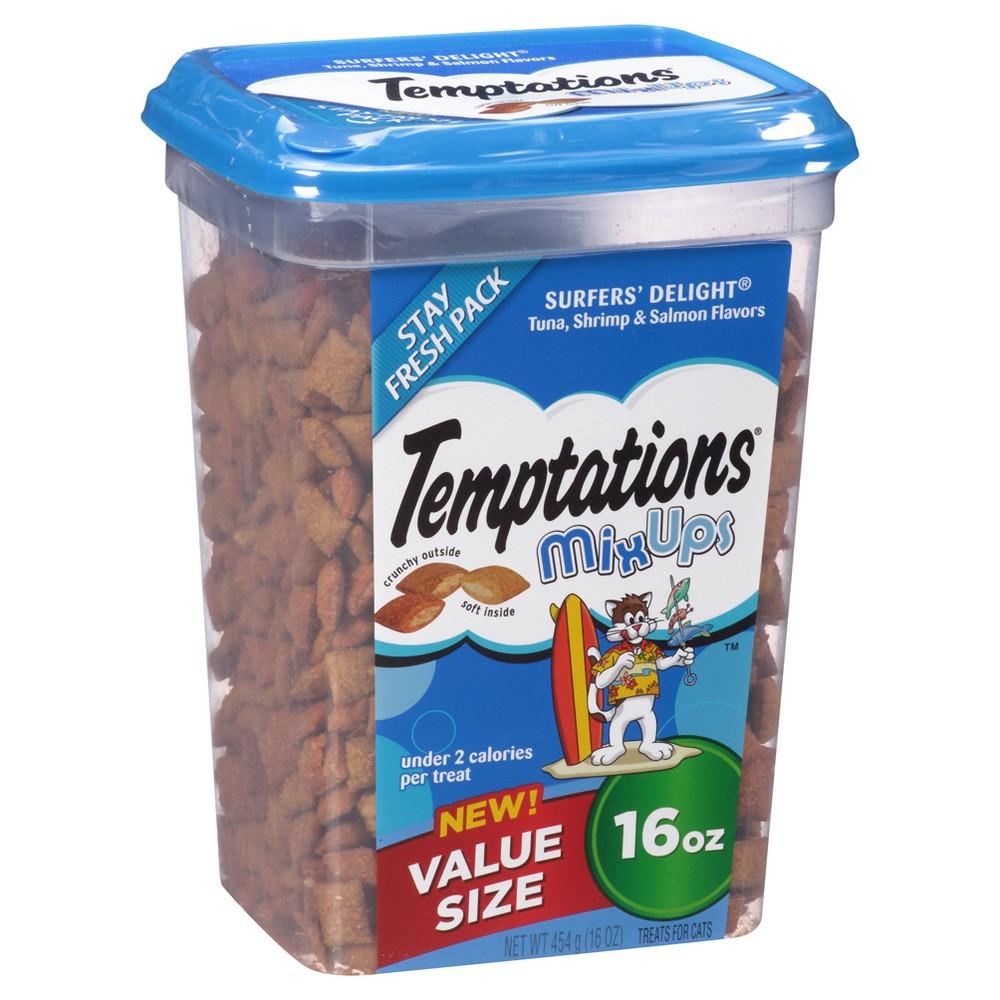 Temptations MixUps Treats for Cats Surfer's Delight Flavor 16 ozs