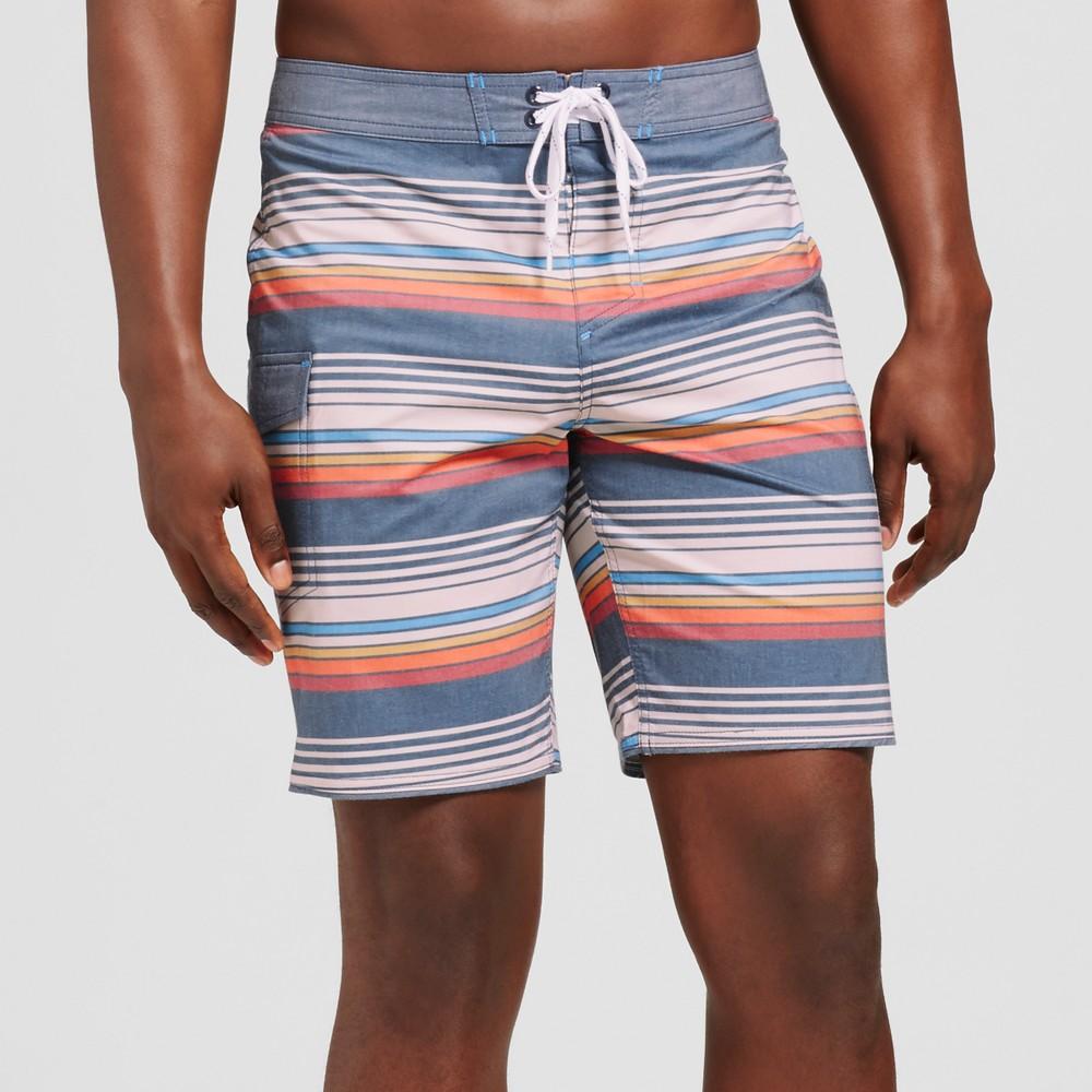 Men's 8.5 Frankie Board Shorts - Goodfellow & Co Stone 29, White