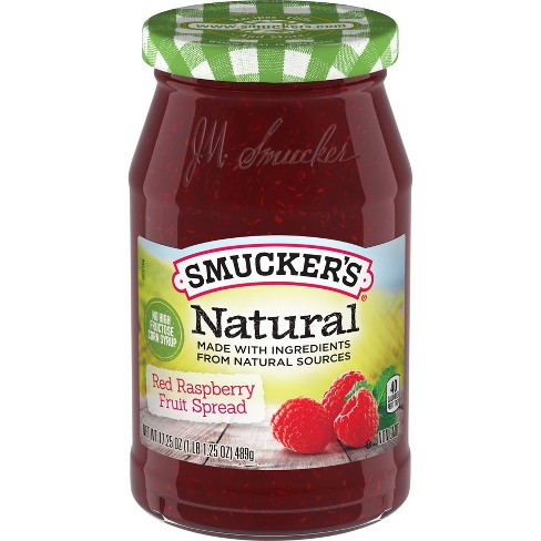 Smucker's® Natural Raspberry Preserves - 17.25oz - image 1 of 1