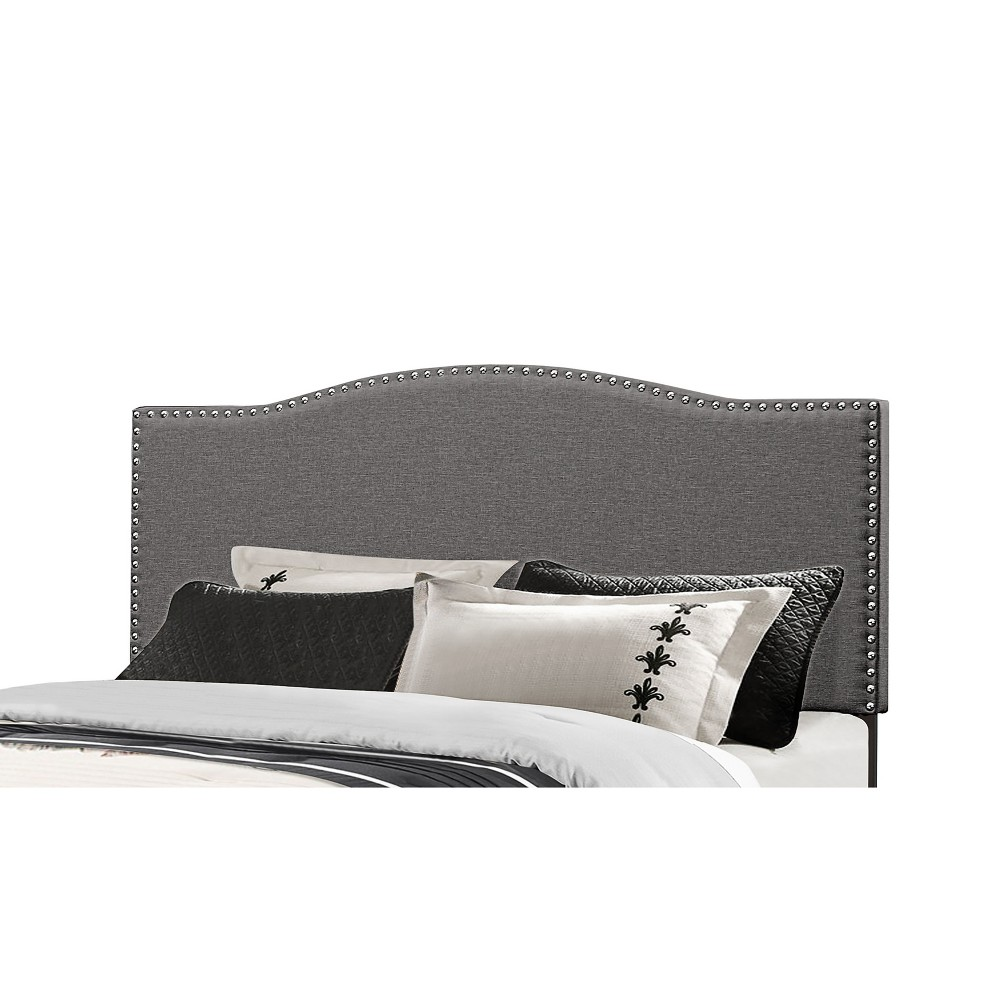Full/Queen Kiley Metal Headboard Frame Included Stone Gray - Hillsdale Furniture