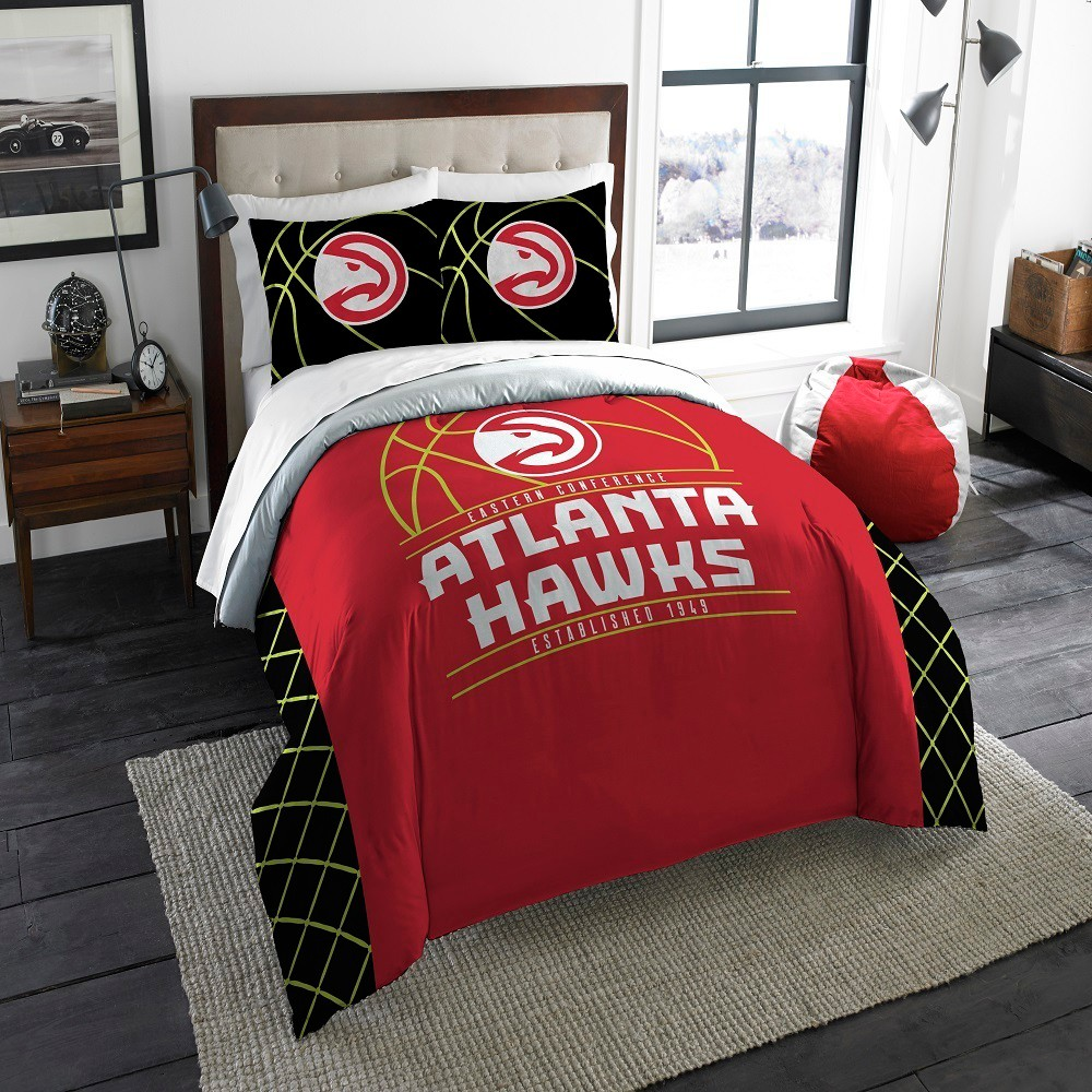 NBA Atlanta Hawks Northwest Reverse Slam Full/Queen Comforter Set