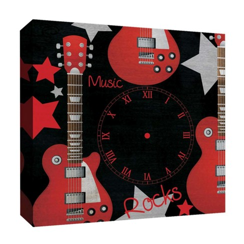 "Music Rocks Decorative Canvas Wall Art 16""x16"" - PTM Images - image 1 of 1"