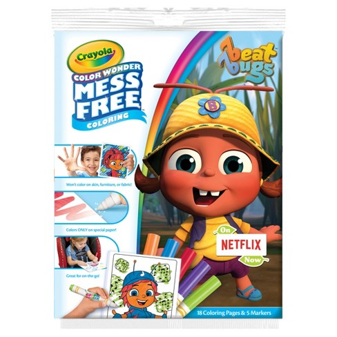 Crayola Color Wonder Coloring Kit Beat Bugs Target