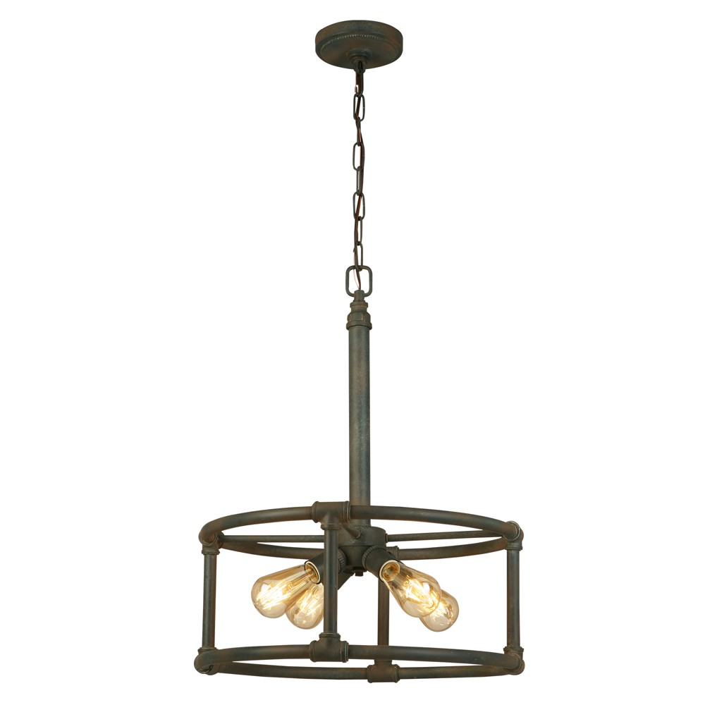 Wymer 4 Light Chandelier Bronze - Eglo, Yellow