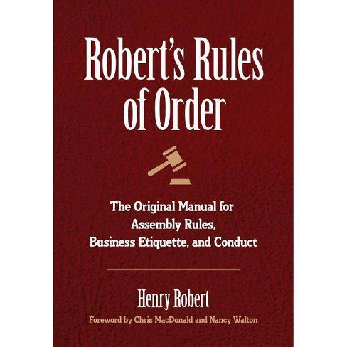 Robert's Rules of Order - by  Henry Robert (Hardcover) - image 1 of 1
