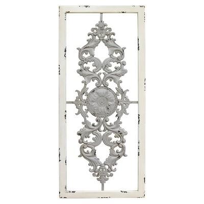Grey Scroll Panel Wall Decor Gray - Stratton Home Décor
