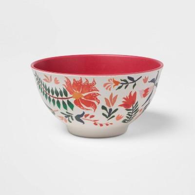 22.5oz Melamine and Bamboo Dinner Bowl Pink - Opalhouse™