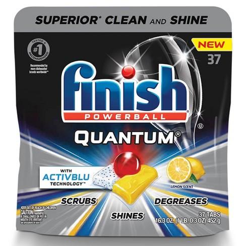 Finish Quantum Ultra Degreaser with Lemon Dishwasher Detergent Tablets - 37ct - image 1 of 4