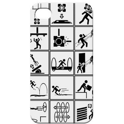 Crowded Coop, LLC Portal 2 Iphone 4 Chamber Squares Phone Case