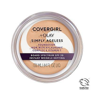 COVERGIRL + Olay Simply Ageless Wrinkle Defying Foundation Compact - 0.4oz