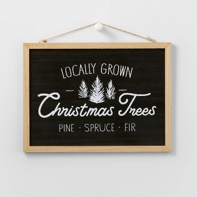 Farm Fresh Tree Hanging Sign Black - Wondershop™