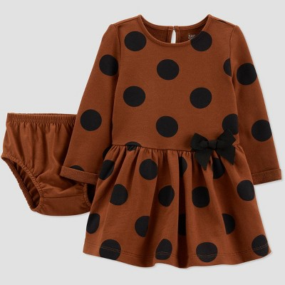 Baby Girls' Dot Dress - Just One You® made by carter's Brown 3M
