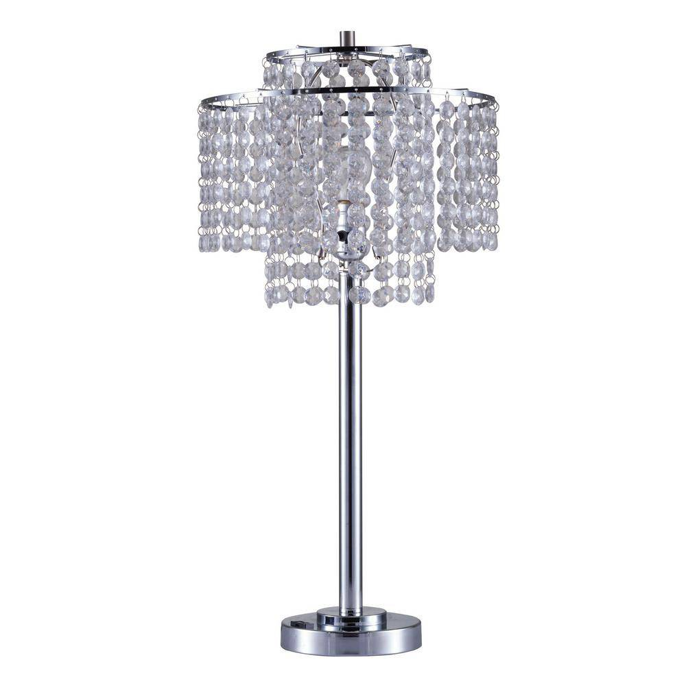 Image of Holly Glam Table Lamp with Usb Port Silver (Lamp Only) - Ore International