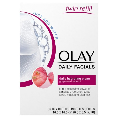 Olay Daily Clean 4 - in - 1 Water Activated Cleansing Cloths - 66ct - image 1 of 2