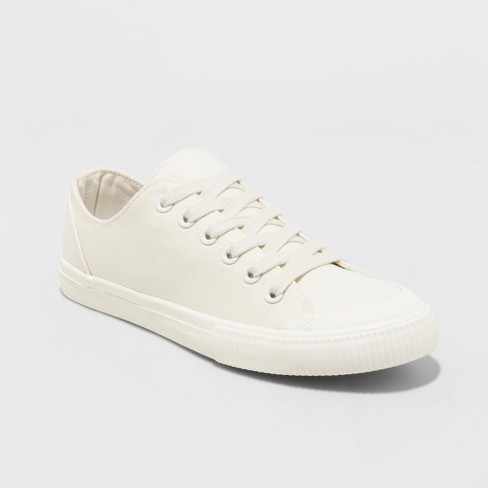 Women's Mandy Canvas Lace Up Sneakers - Universal Thread™ Cream - image 1 of 3