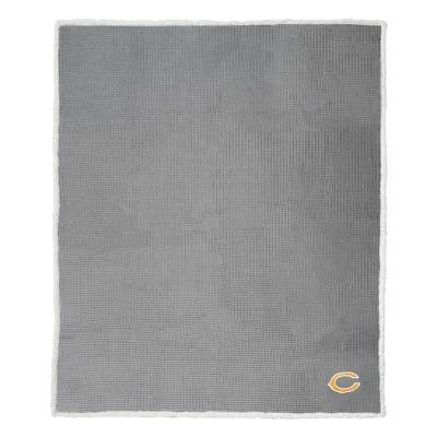 NFL Chicago Bears Waffle Sherpa Throw Blanket