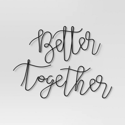 Better Together Wire Wall Art Black - Opalhouse™