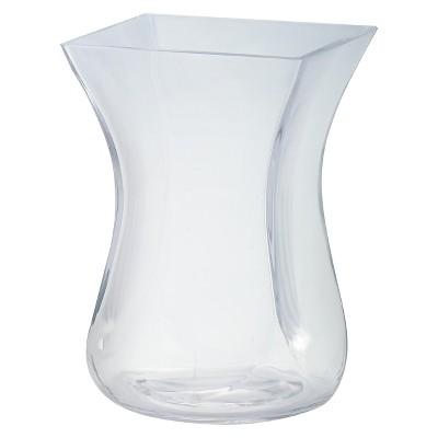 9 x6  Glass Curved Vase - Diamond Star