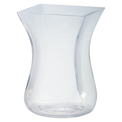"9""x6"" Glass Curved Vase - Diamond Star - image 1 of 2"