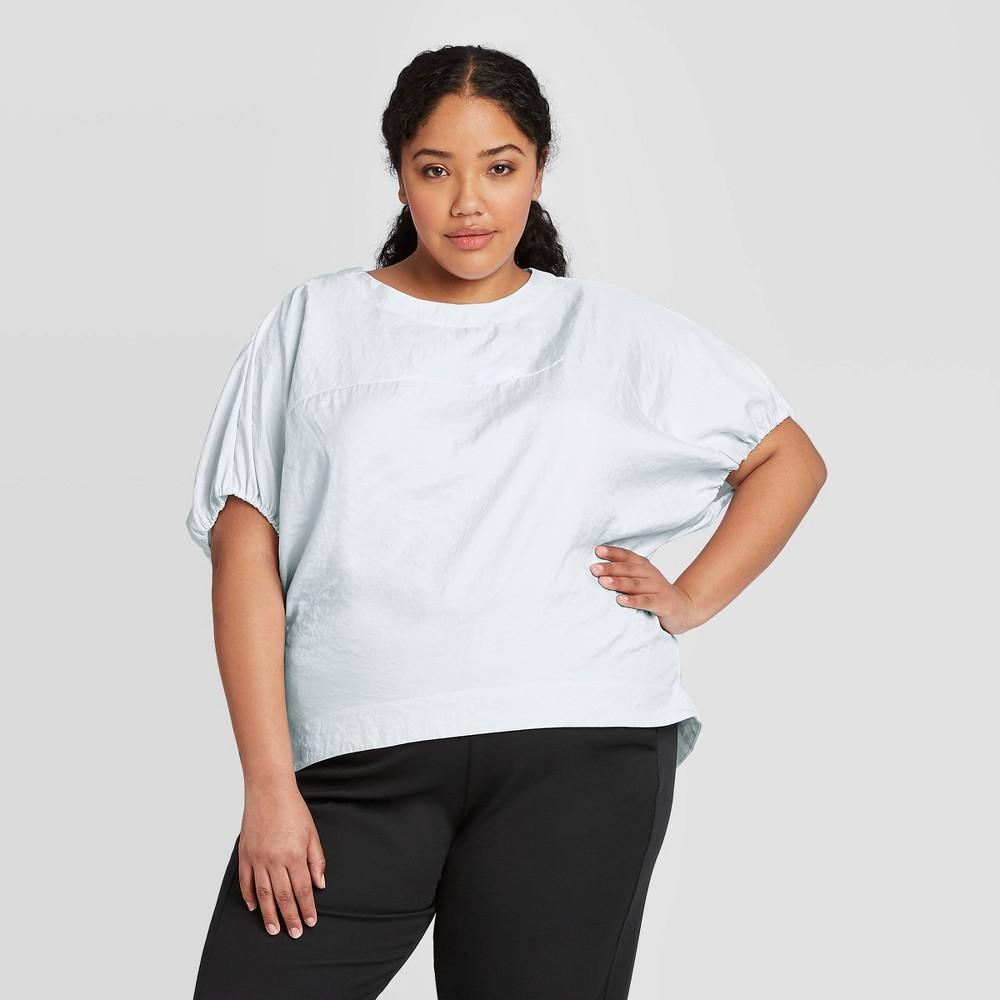 Women's Plus Size Short Sleeve Blouse - Prologue Blue 4X, Women's, Size: 4XL was $24.99 now $17.49 (30.0% off)