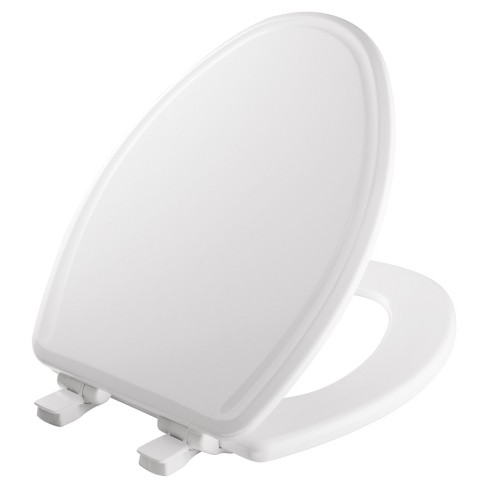 Elongated Molded Wood Toilet Seat with Easy Clean & Change Hinge White - Mayfair - image 1 of 4