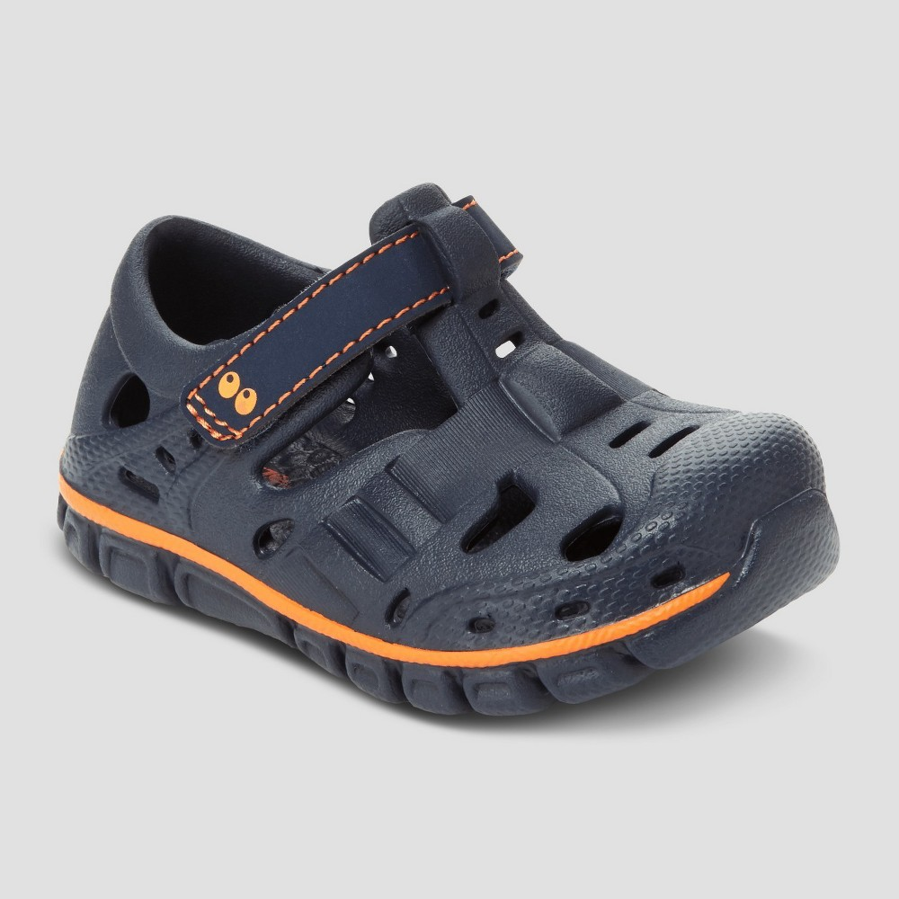 Baby Boys' Surprize by Stride Rite Rider Land & Water Shoes - Navy/Gray 4, Blue
