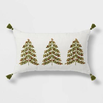 Oversized Tree Embroidered Lumbar Throw Pillow - Threshold™