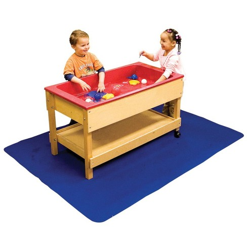 Dry Mate Protective Sand and Water Floor Mat, 3 Feet 9 Inches x 4 Feet 10 Inches, Blue - image 1 of 2