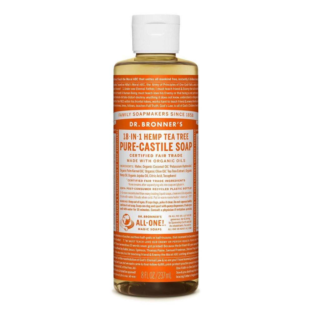 Image of Dr. Bronner's Tee Tree Pure-Castile Liquid Soap - 8oz