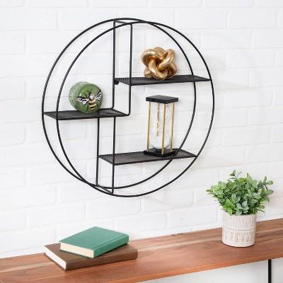 Honey-Can-Do Wall Mounted Circle Shelf
