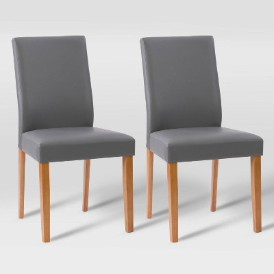 Set of 2 Alpine Two-Toned Dining Chairs Gray/Cherry Red - CorLiving