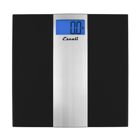 Ultra Slim Digital Bathroom Scale Black - Escali - image 1 of 4