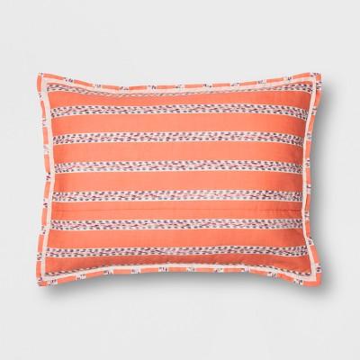 Coral Seine Pom-Pom Stripe Sham (Euro)- Opalhouse™