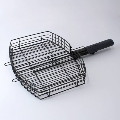 Char-Broil Non-stick Grill Basket with Detachable Handle Black