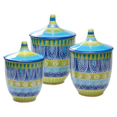 Certified International Tapas Canisters Set of 3