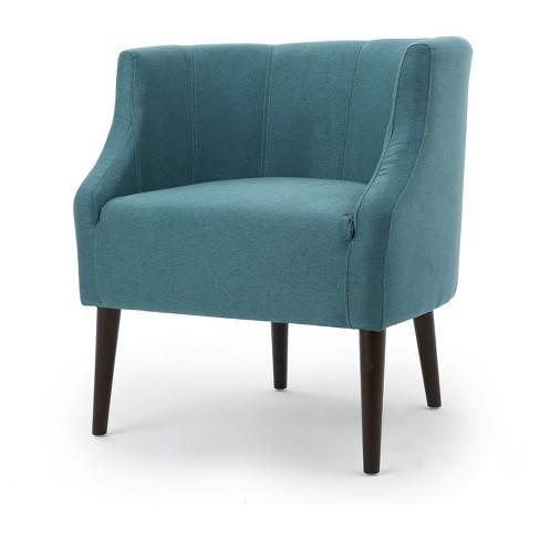 Sonnet Upholstered Club Chair Dark Teal Christopher